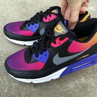 Nike Air Max 90 Women Sport Casual Gradient Color Air Cushion Sneakers Running Shoes-1
