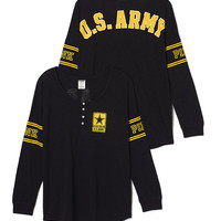 Army Long Sleeve Henley - PINK - Victoria's Secret