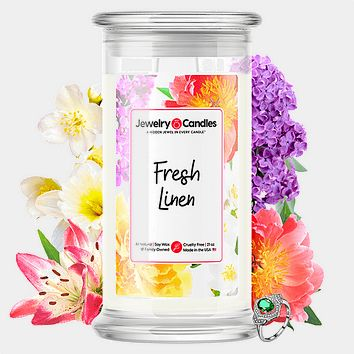 Fresh Linen Jewelry Candle