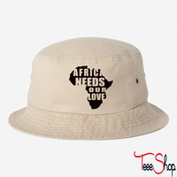 Africa Needs Our Love bucket hat
