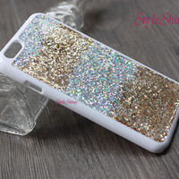iphone 6 plus case, Real glitter, iphone 6 case, iPhone 5s case, iPhone 5c case, Note3 case, Real Glitter Pink Silver Gold, Phone cover-032