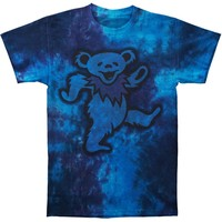 Grateful Dead Men's  Big Bear Tie Dye T-shirt Blue
