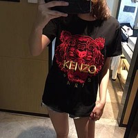 KENZO Hot Embroidery letters T-shirt top