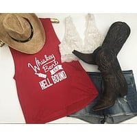 Whiskey Bent and Hell Bound - Country Tank - Ruffles with Love - RWL