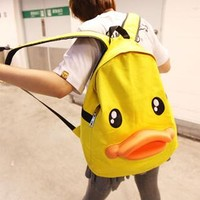 Cute Leisure Duck Shape Canvas Backpack from styleonline
