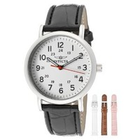 Invicta Women's 12803 Specialty Collection White Dial Leather Watch Set with Four Interchangeable Straps