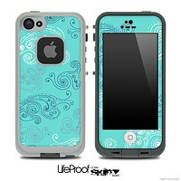Blue Seamless Illustration Skin for the iPhone 5 or 4/4s LifeProof Case