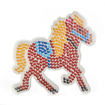 1 Pcs Horse Shape Pegboards Transparent For 5mm Hama Beads DIY Kids Craft Fine