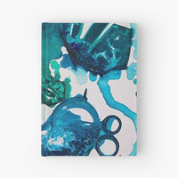 'Turtle Exploring the Great Deep Blue Sea' Hardcover Journal by ANoelleJay