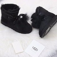 Sale Ugg 1018517 Black Classic Gita Sheepskin Boot Snow Boots-1