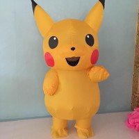High quality inflatable Pikachu clothing pokemon clothing Halloween costumes for women sexy girl child Pikachu mascot