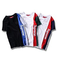 Supreme Unisex Colorful T-shirts Bottoming Shirt [11501026060]