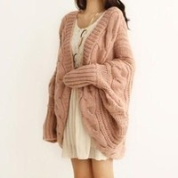 Cuddly coat in Pink/black/rice wihte from Fashion4you