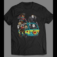 HORROR VILLAINS / SCOOBY DOO MYSTERY MACHINE MASH UP SHIRT
