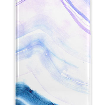 WATERCOLOR, OCEAN WAVES - HIPSTER MONOGRAMMED IPHONE CASE