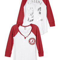 University Of Alabama Split-Neck Baseball Tee - PINK - Victoria's Secret