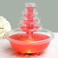 BalsaCircle 5 Tier Wedding Fountain with Lights for Party Decorations