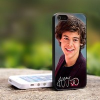 Harry Styles One Direction 1D - For iPhone 5 Black Case Cover