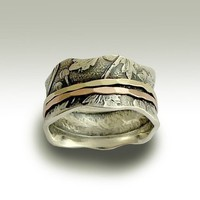 Wedding band  Sterling silver meditation band with by artisanlook
