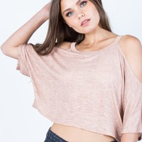 Lightweight Dolman Crop Top