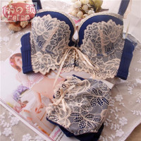 2015 sexy Lace Embroidery bra sets,sexy lingerie,bowknot bra, brassiere,france brand bra sets,women underwear,Big cup(B C CUP)