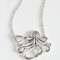 Nautical My Pet Octopus Necklace by ModCloth