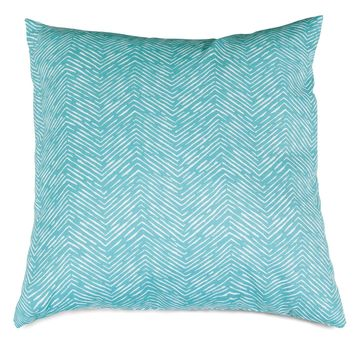 Teal Navajo Large Pillow