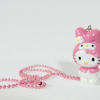 Kawaii Sanrio My Melody Hello Kitty Necklace by JapanTown on Etsy