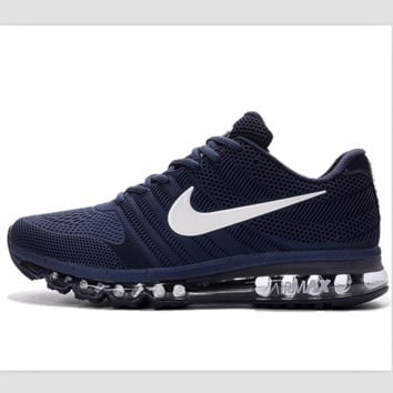 NIKE Shock Absorbing Hight Quality Deep Blue Casual Sports Running Men Shoes