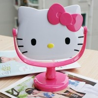 New Cute Pink Hello Kitty Cosmetic Mirror Make up Mirror