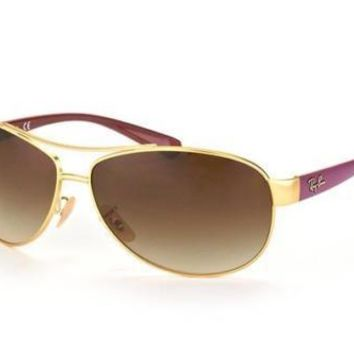 NEW Genuine Ray Ban RB3386 11213 Matte Gold Mens Womens Sunglasses Glasses