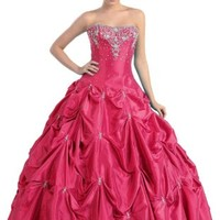US Fairytailes Ball Gown Strapless Formal Prom Wedding Dress #2714