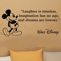 Disney Mickey Mouse Laughter Is Timeless wall quote vinyl wall decal sticker 16i