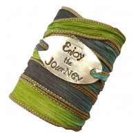 Enjoy The Journey Silk Wrap Bracelet