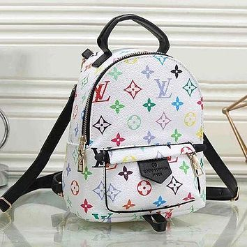 LV Louis Vuitton Fashion classic print backpack large capacity leisure travel bag Daypack