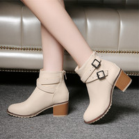 Vintage  women high heels Ankle boots