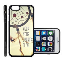 RCGrafix Brand Keep Your Dreams Alive Quote Apple Iphone 6 Plus Protective Cell Phone Case Cover - Fits Apple Iphone 6 Plus