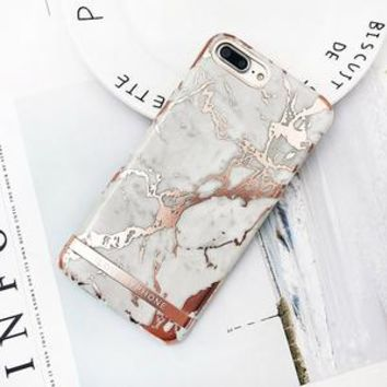Luxe White & Rose Gold iPhone Case