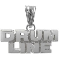 Sterling Silver Drum Line Charm | Color Guard Gifts