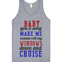 baby you a song-Unisex Athletic Grey Tank