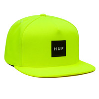 HUF: Box Logo Snapback Hat - Dayglow Yellow