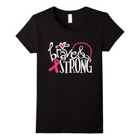 Brave And Strong Breast Cancer Shirt Cancer Fighter Gifts