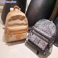 Coach fashion hot seller men's and women's casual printing popular backpacks