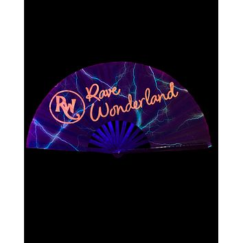 Blacklight Reactive Limited Edition Oversized Halloween Rave Wonderland Folding Fan