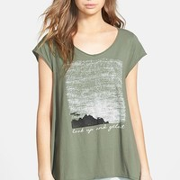 Junior Women's Project Social T 'Look Up and Get Lost' High/Low Graphic Tee,