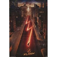 The Flash Street Speeder DC Comics Poster 22x34