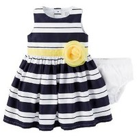 Just One You™Made by Carter's® Baby Girls' Dress - Navy/Yellow