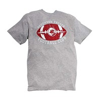 Exclusive Football Tee in Heather Grey by Southern Proper