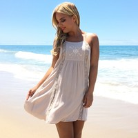 Crazy About Nude Shift Dress