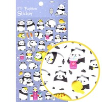 Panda Bear and Tacos Animal Themed Puffy Stickers for Scrapbooking and Decorating